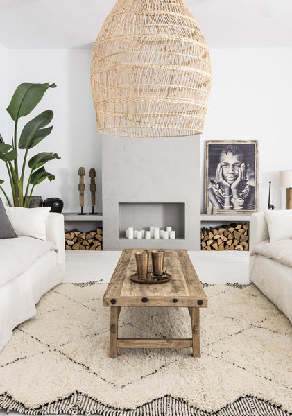Handmade Moroccan rug bring coziness to your home