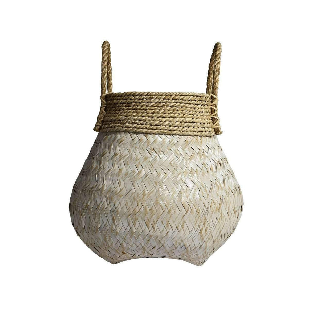 Zoco Home Basket Bamboo Basket | White | 38x35cm