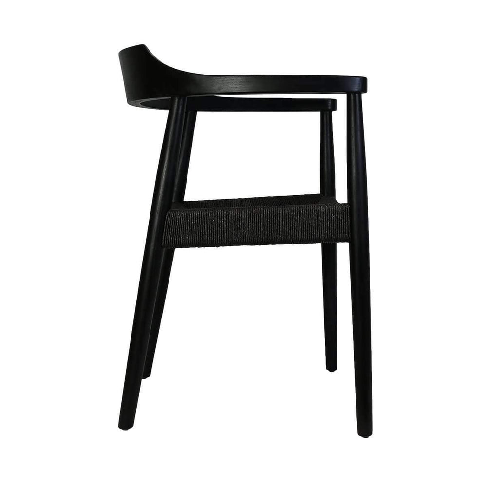 Zoco Home Dining Chairs Sungkai Dining Chair | Black 55x46x71cm