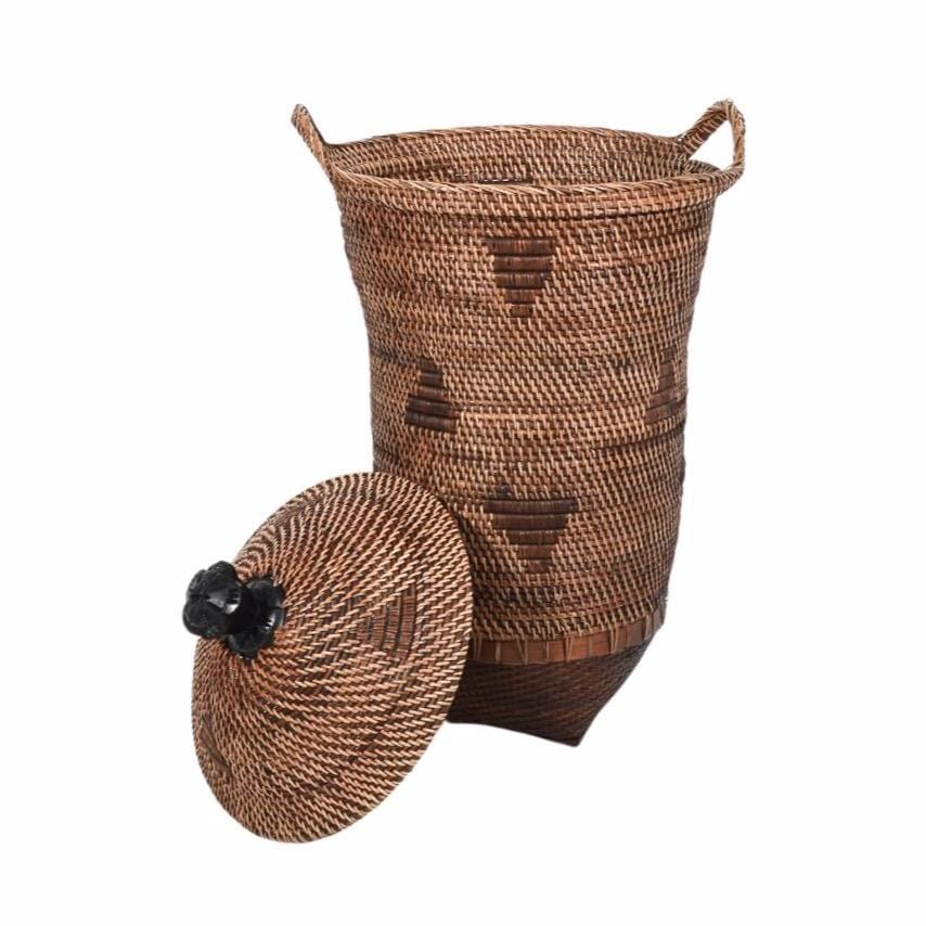 Ethnic Basket with Lid | 50cm