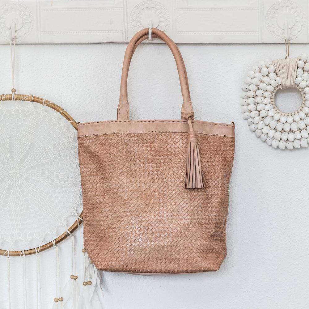 Braided leather Tote bag - Zoco Home