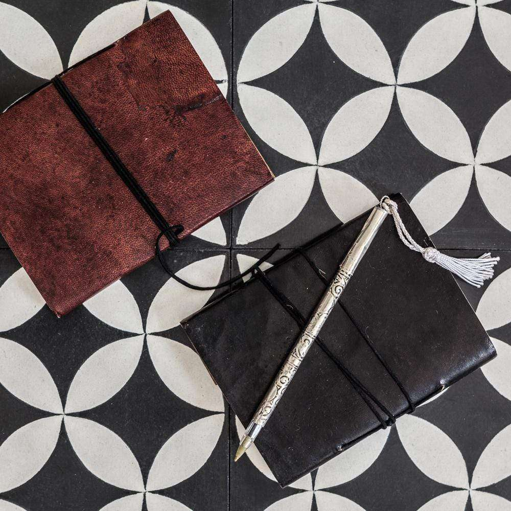 Leather notebook | Brown - Zoco Home