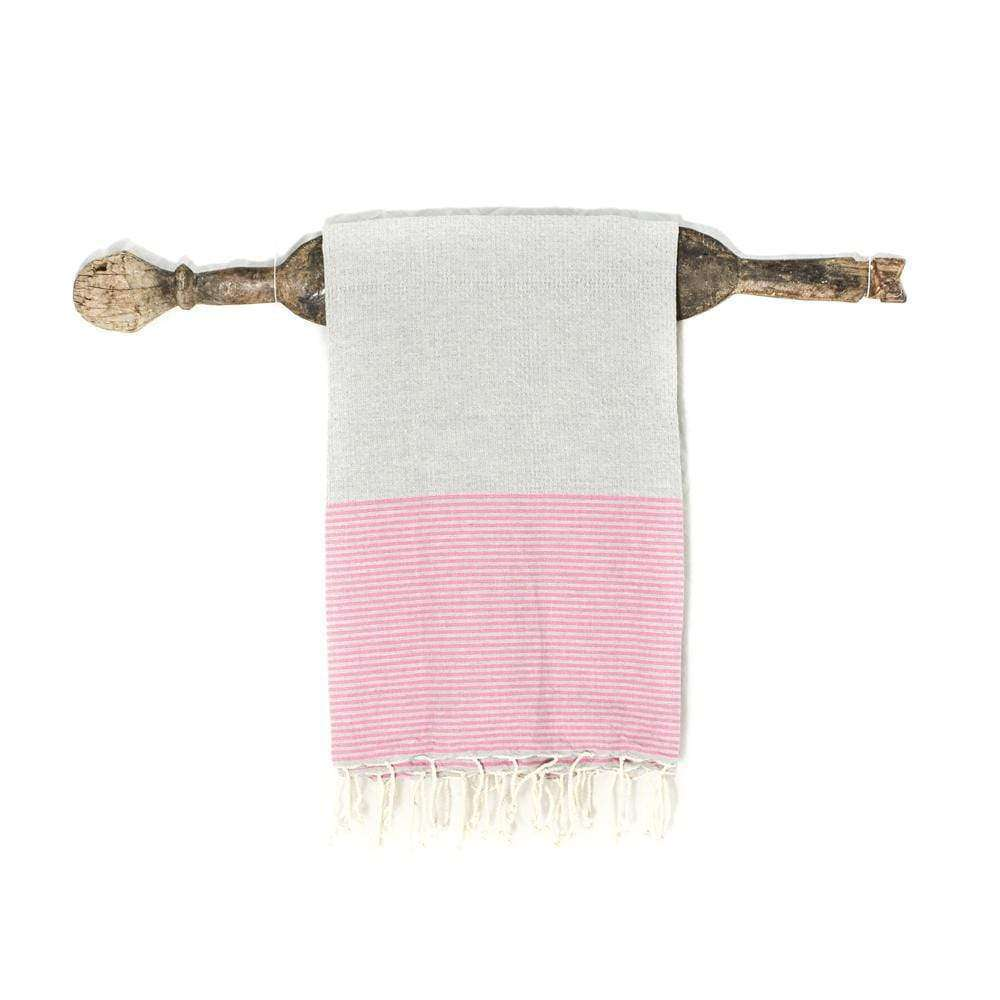 Fouta towel | Grey & pink - Zoco Home