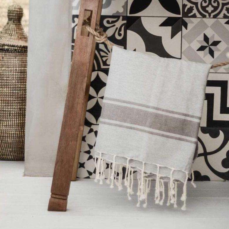 Fouta towel | Light Grey - brown