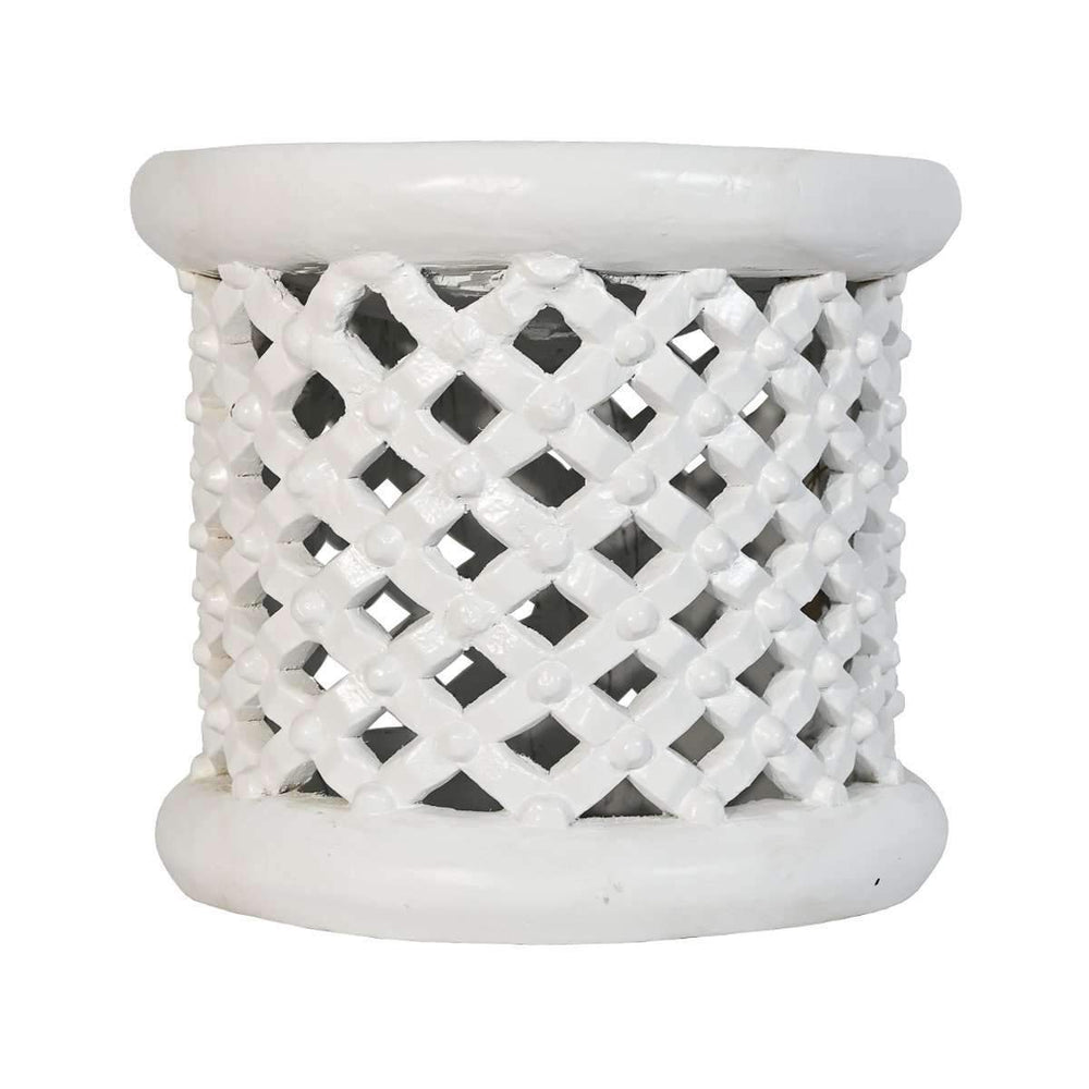 Bamileke table | White