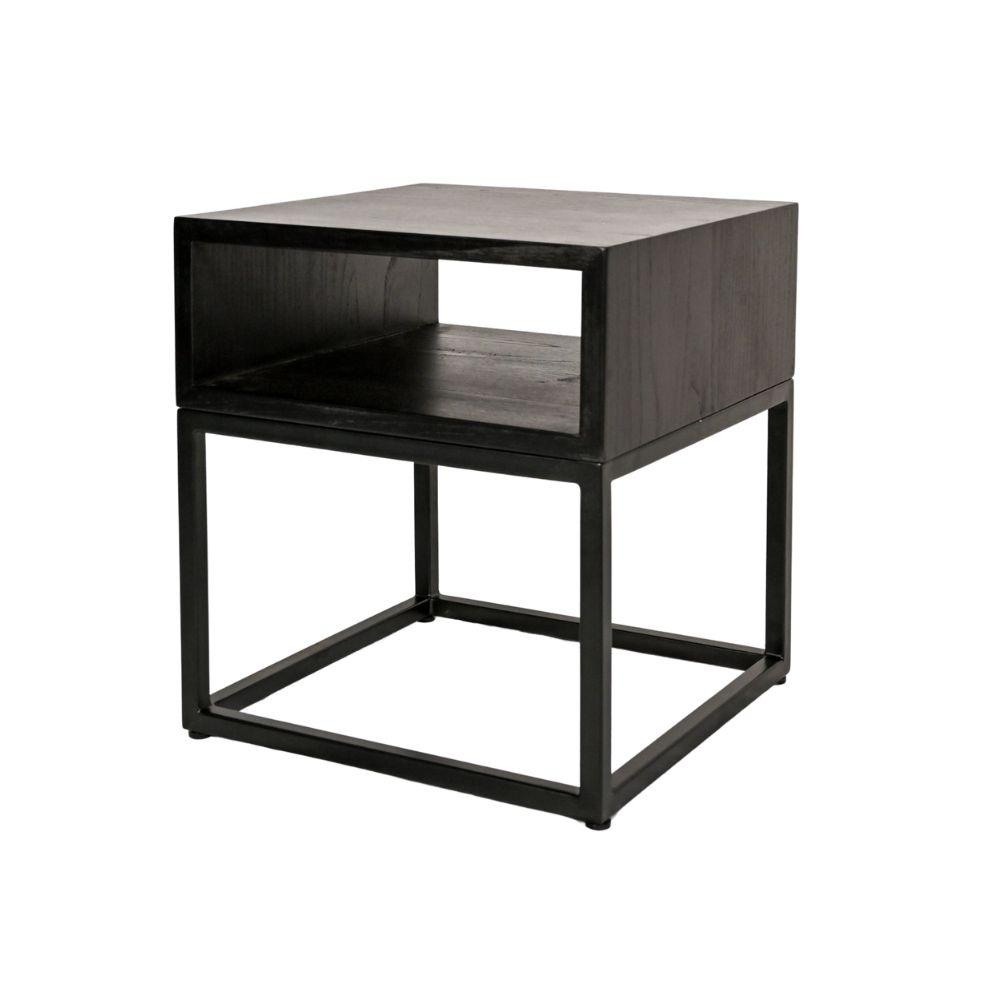 Zoco Home Furniture Cane Night Table | Black 40cm
