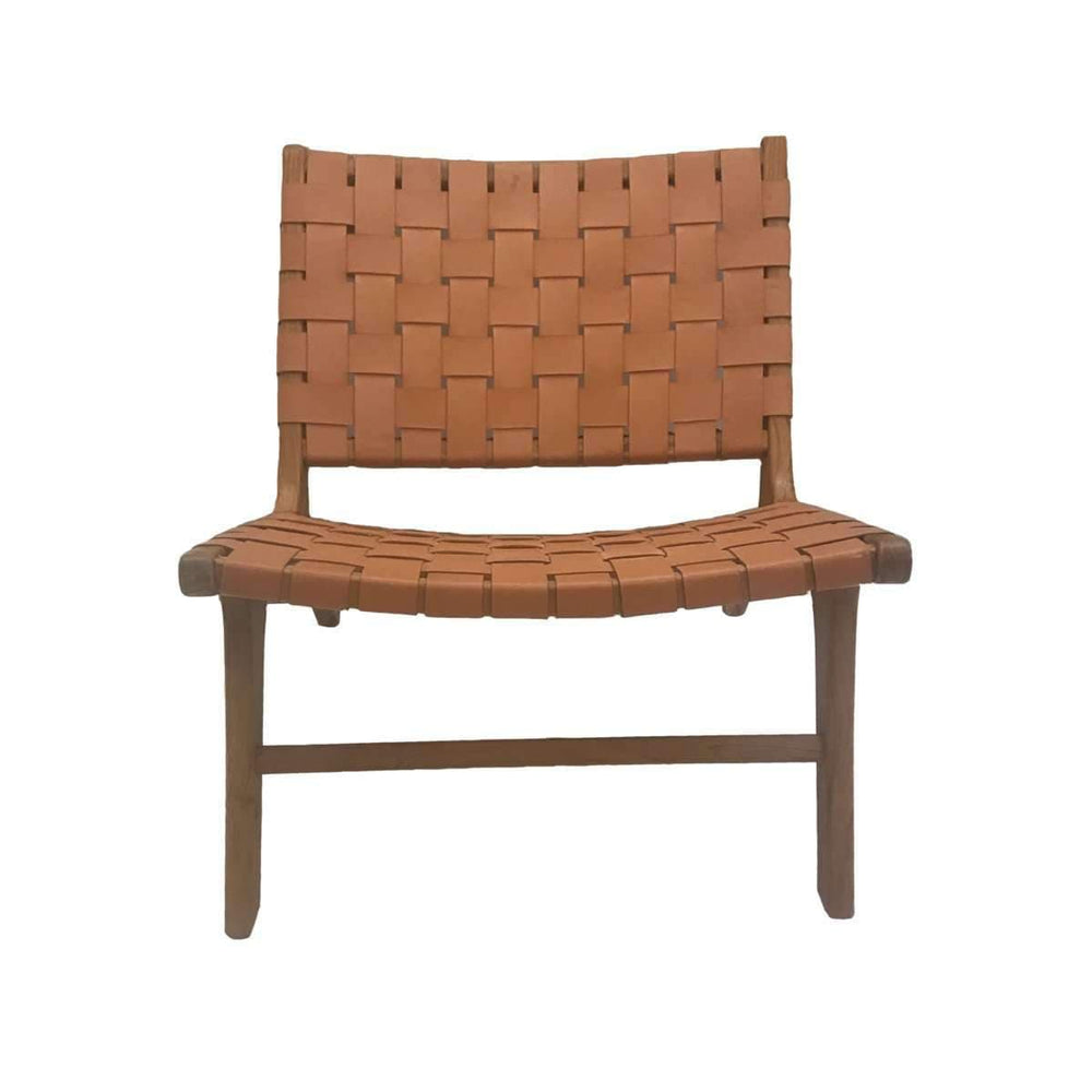 Leather belt lounge chair | Cigar