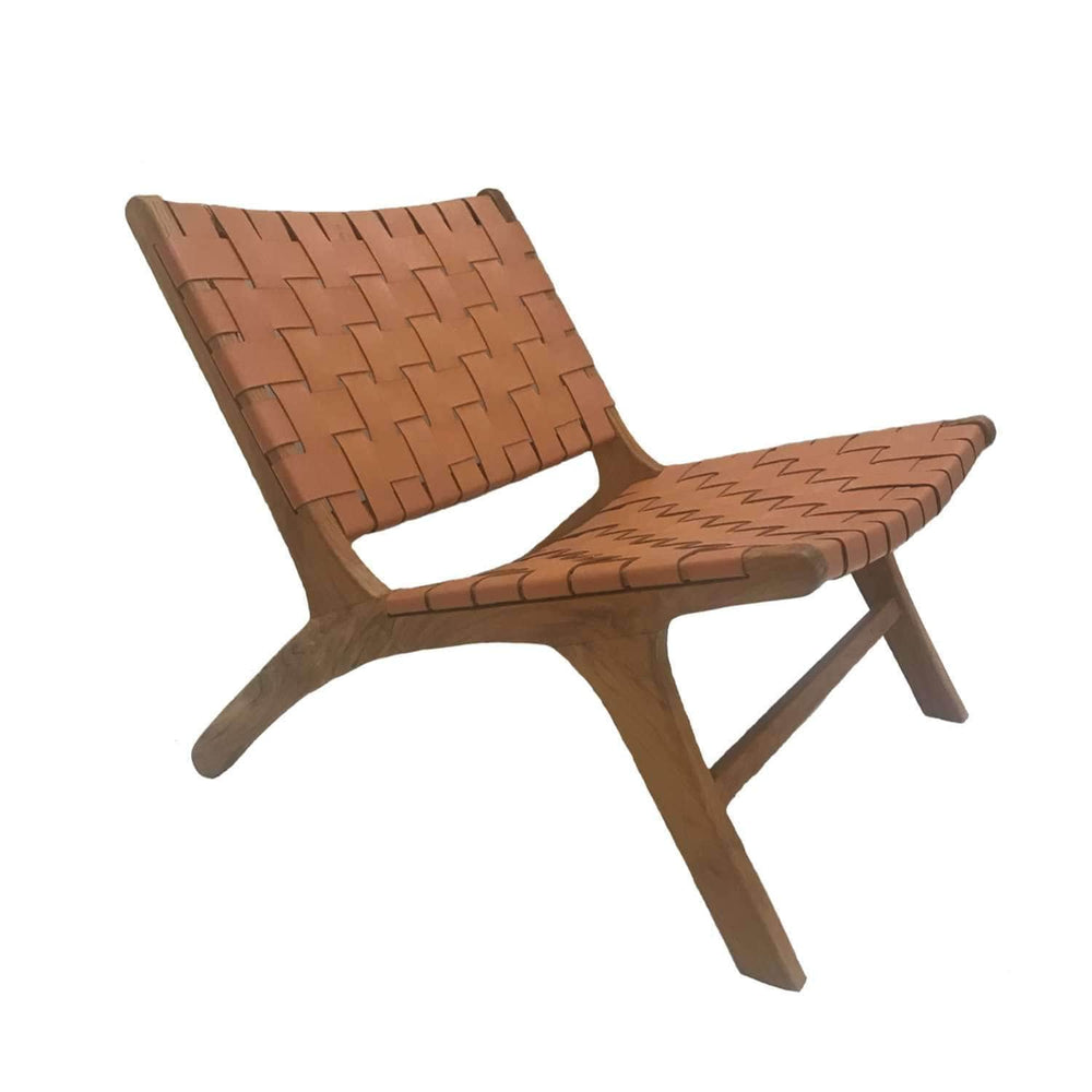 Zoco Home Furniture Leather belt lounge chair | Cigar