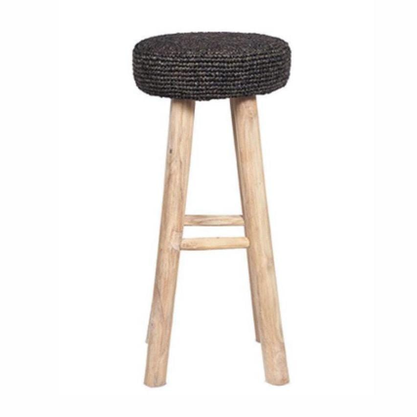 Raffia Bar stool | Black
