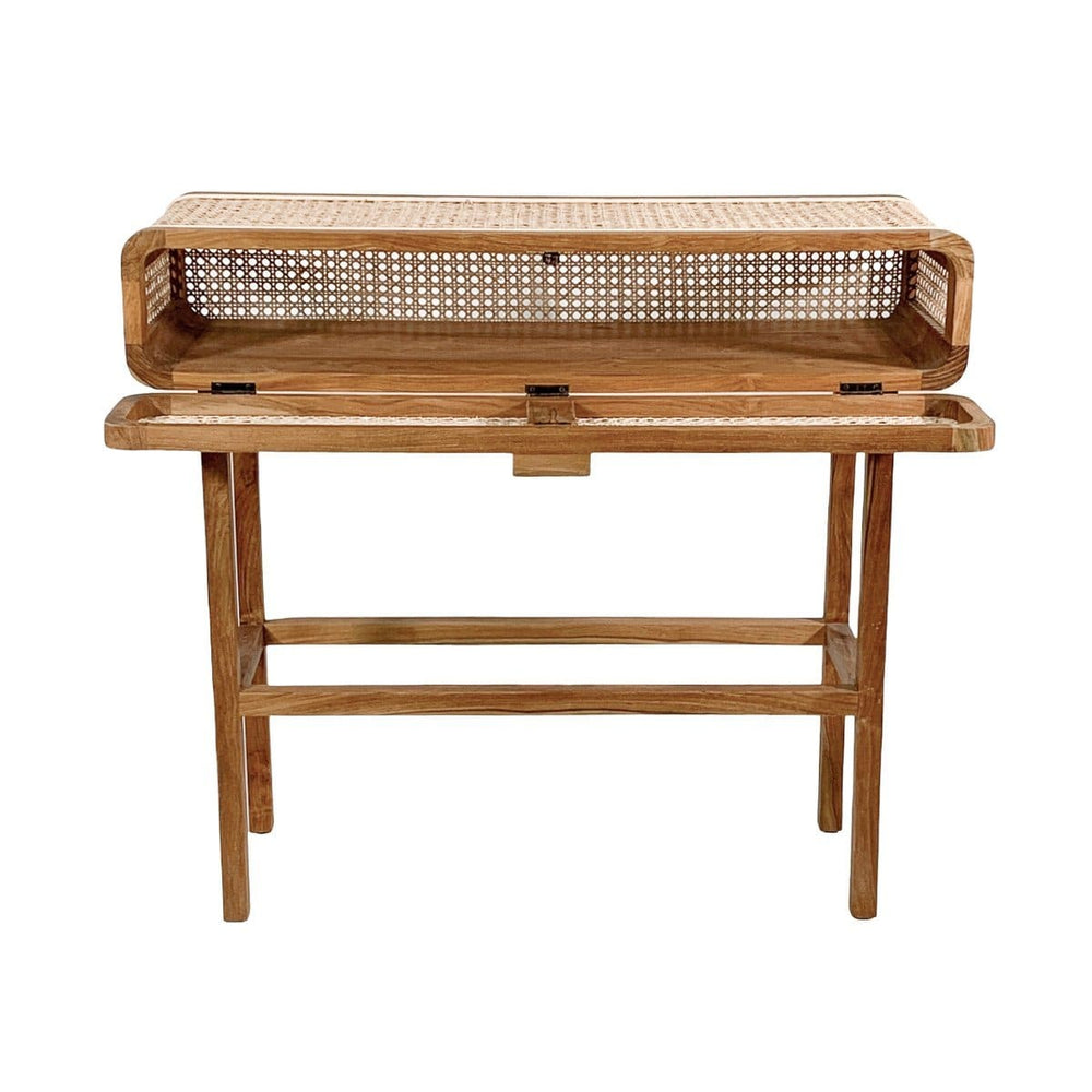Rattan Console Table | 90x35x80cm - Zoco Home