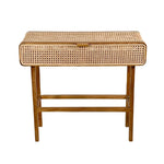 Zoco Home Furniture Rattan Console Table | 90x35x80cm