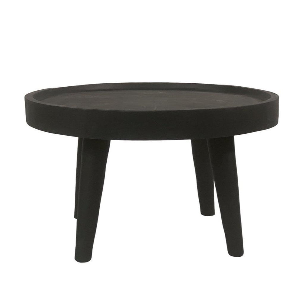 Suar wood Coffee Table | Black 80cm