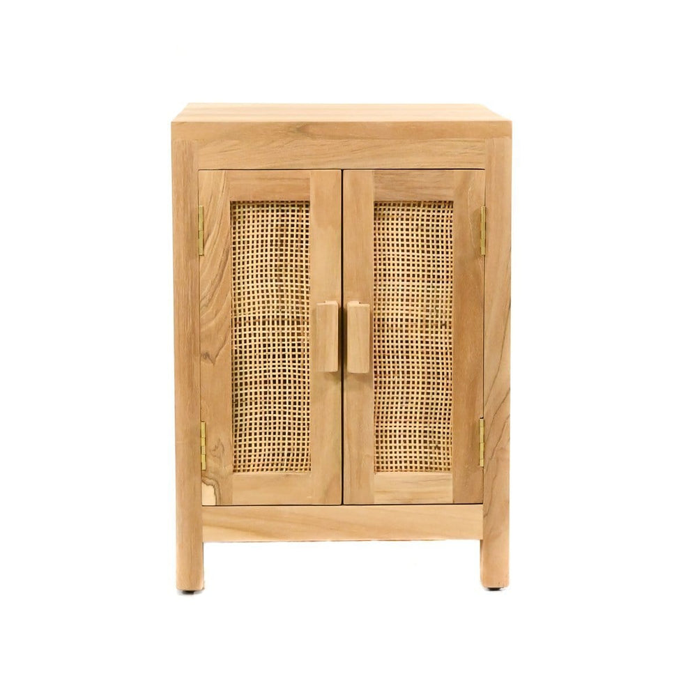 Zoco Home Furniture Teak & rattan nightstand