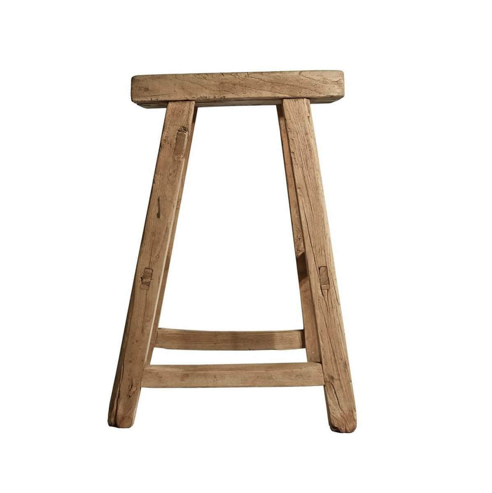 Vintage Elm wood stool