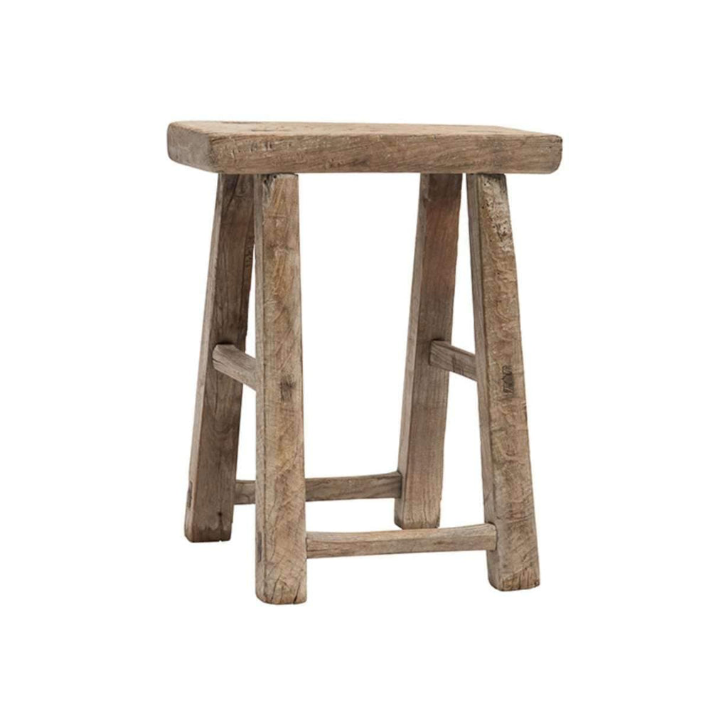 Zoco Home Furniture Vintage Elm wood stool
