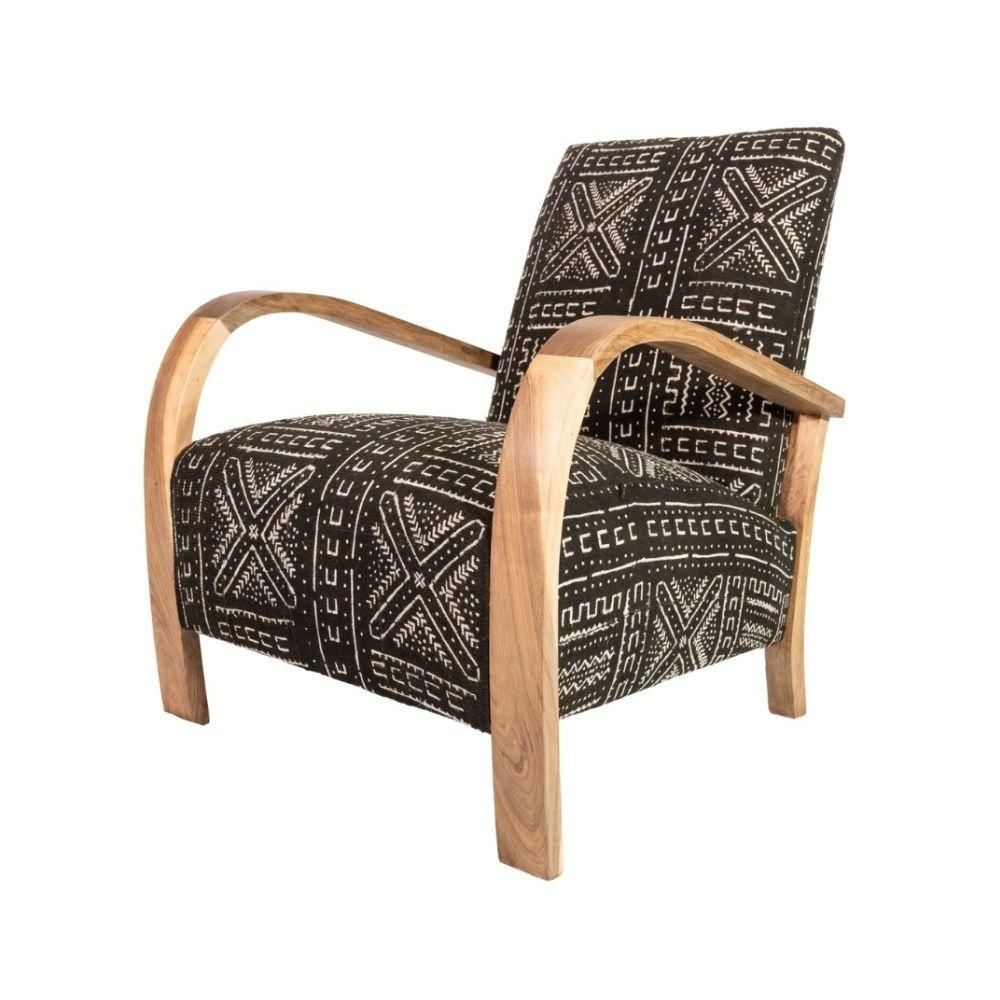 Zoco Home Furniture Walnut Mali Armchair