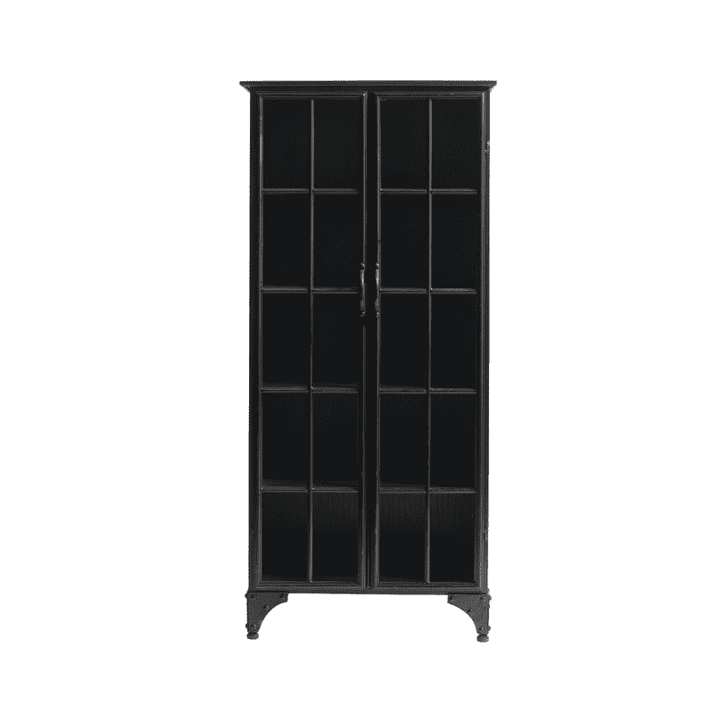 BLACK IRON CABINET | 137X64cm - Zoco Home