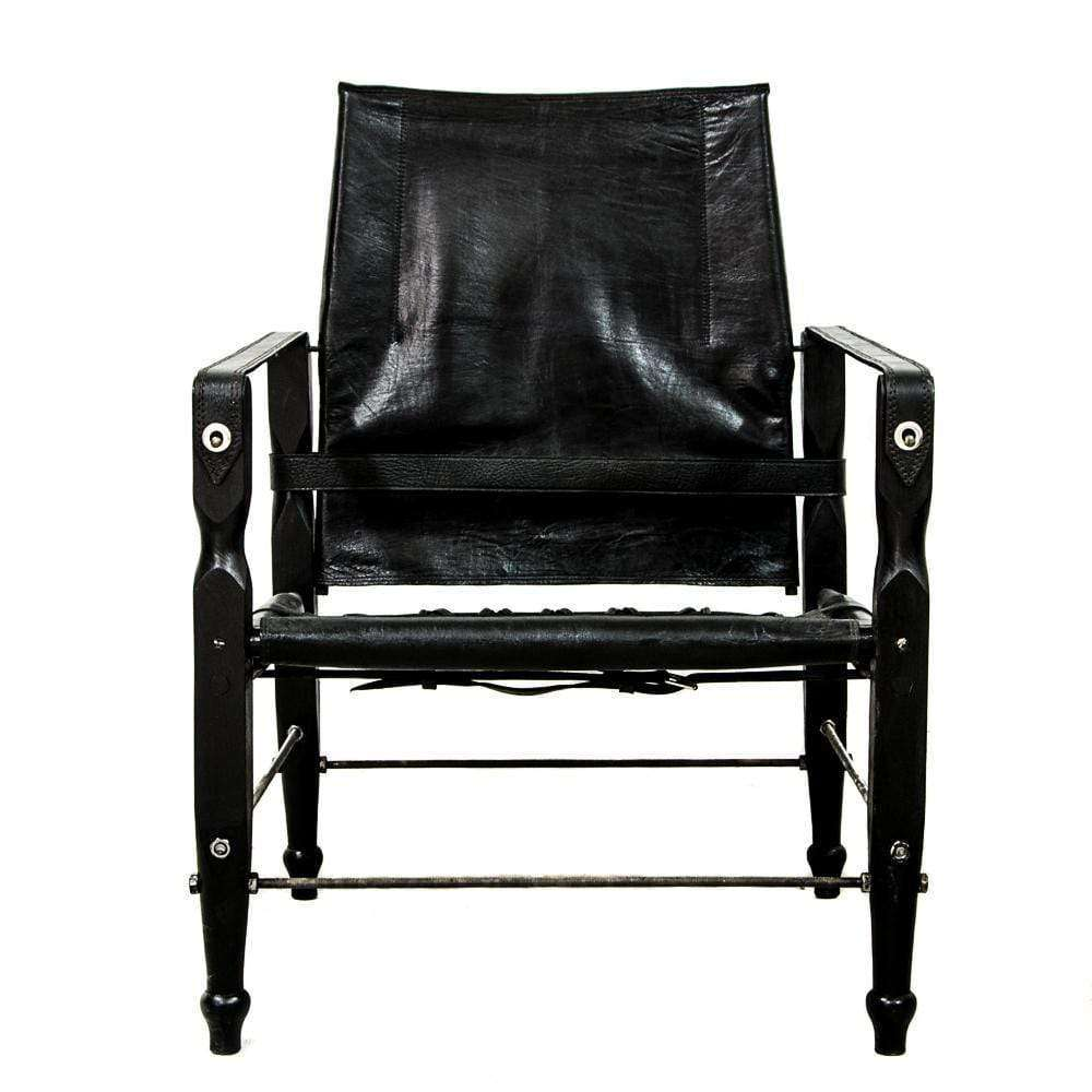 Leather Safari Chair | Black