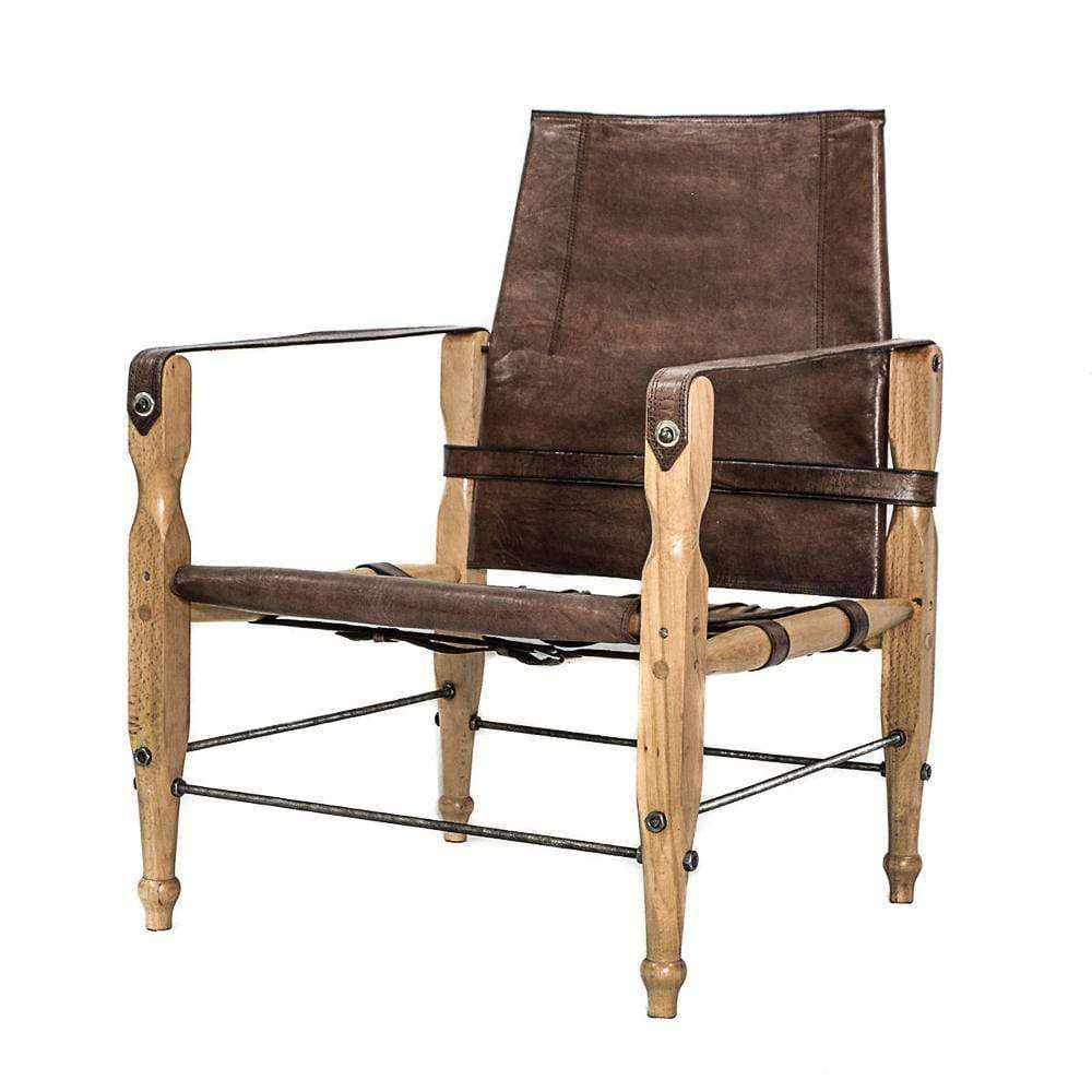 Safari- Chair | Brown Leather