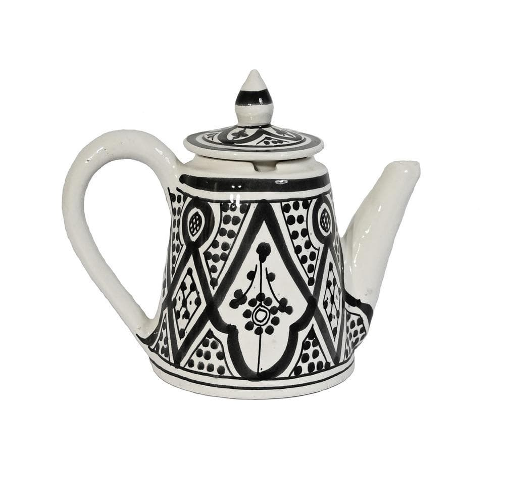 Zoco Home Home accessories Ceramic Coffee Pot | Black & White