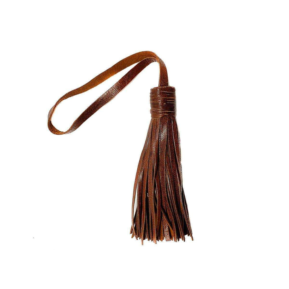 Decorative leather tassel | Cognac - Zoco Home