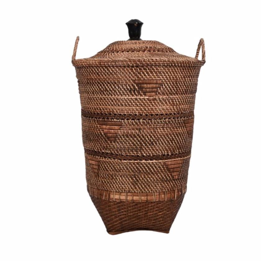 Ethnic Basket with Lid | 70 cm