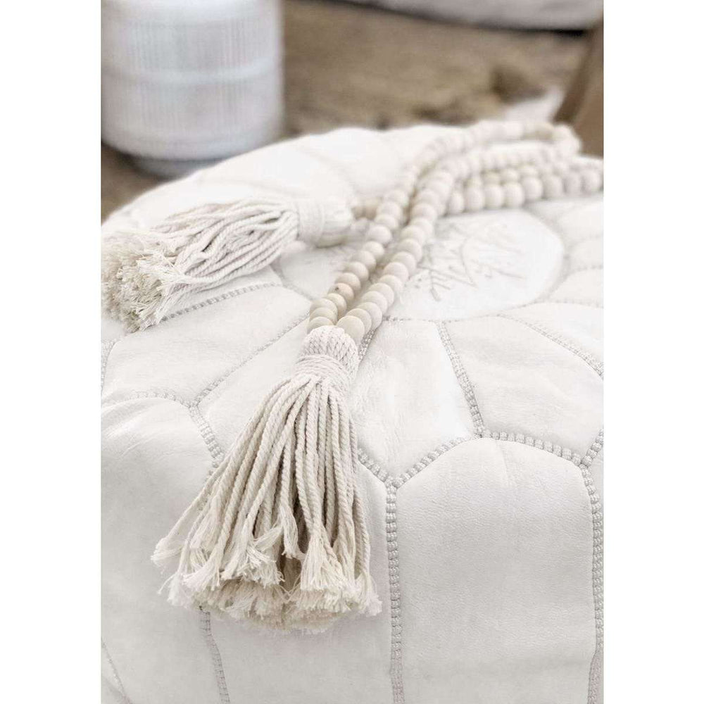 Big white wooden beads - Zoco Home