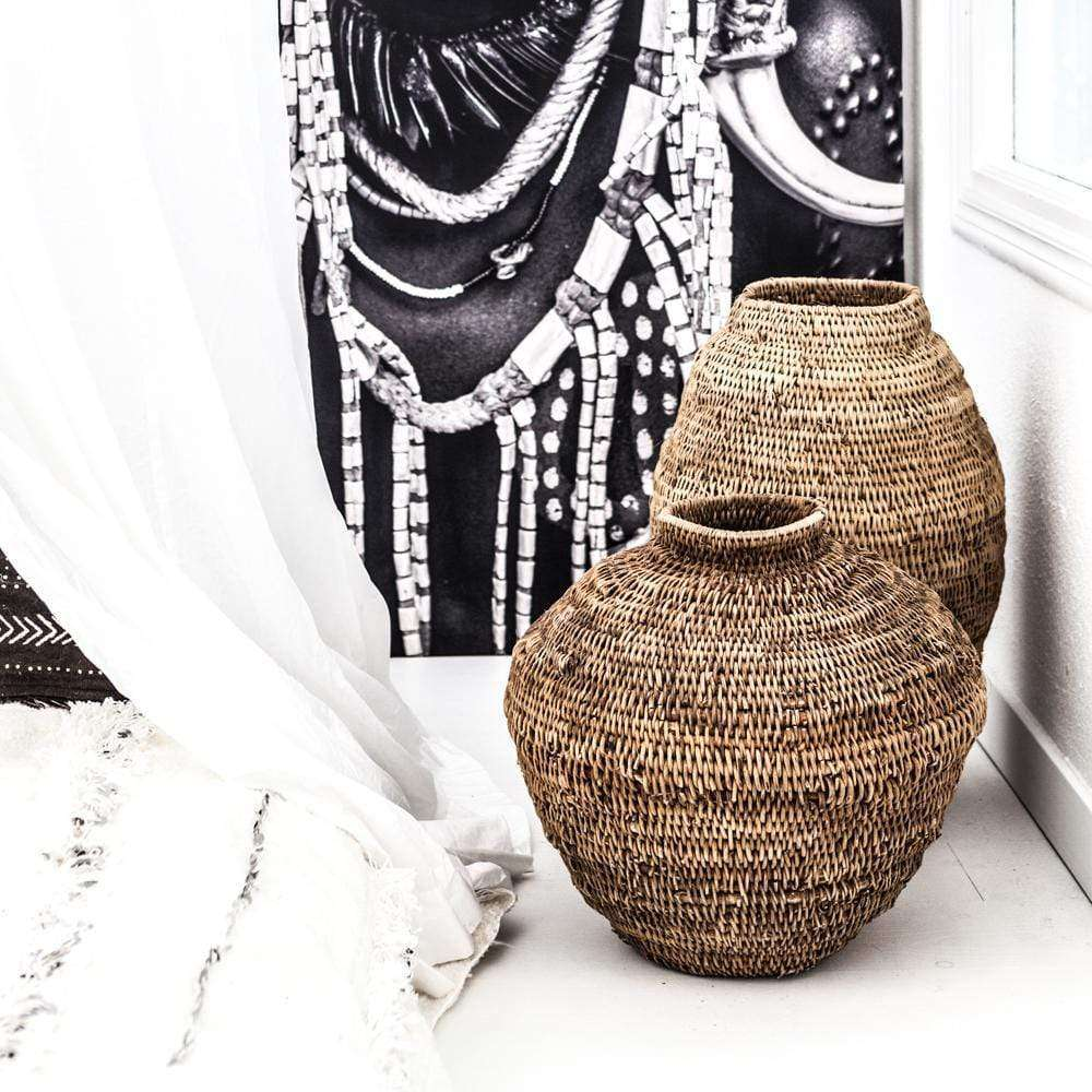 Zoco Home /|Home accessories|Home accessories/Baskets & Storage|Home accessories/Unique items Buhera gourd basket - L