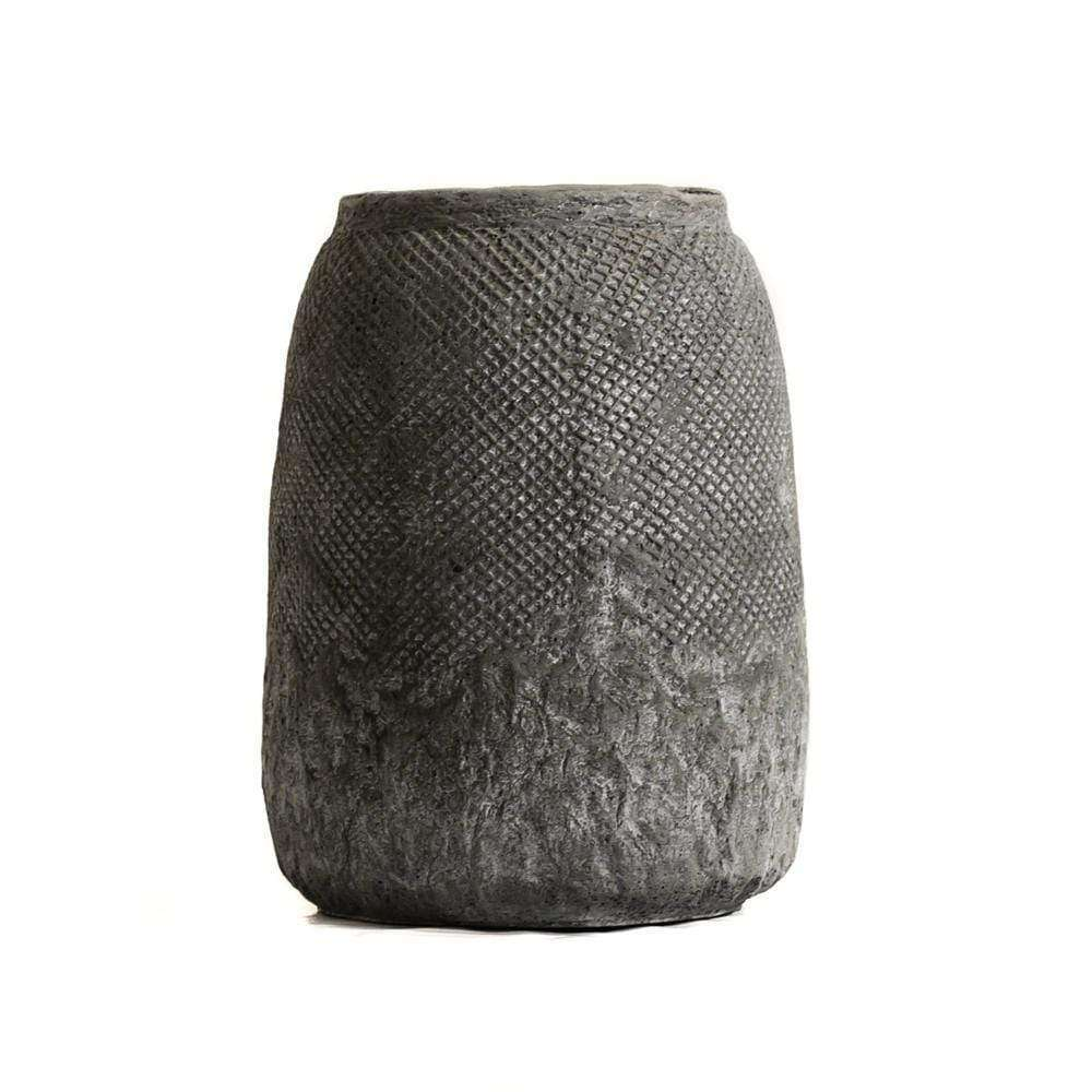 Ibiza Ceramic Pot | Grey 20cm - Zoco Home