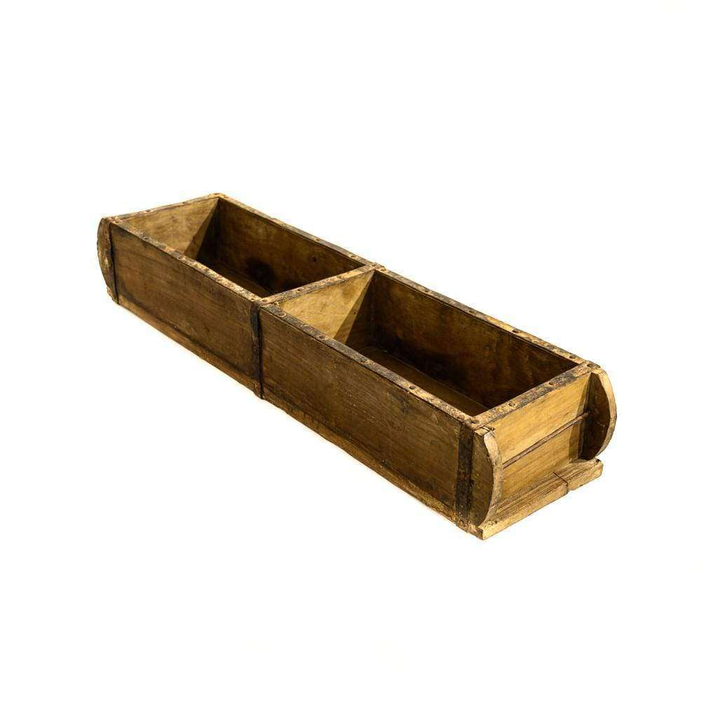 Wooden Vintage Storage Box | Double
