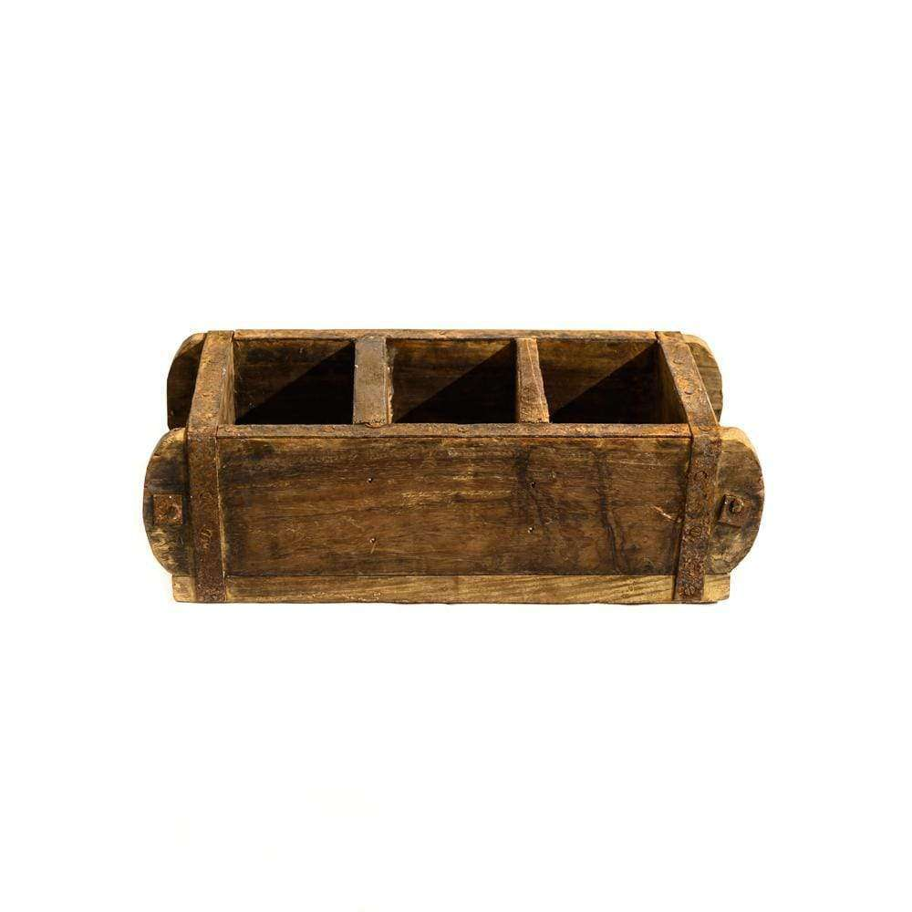 Wooden Vintage Storage Box | Triple
