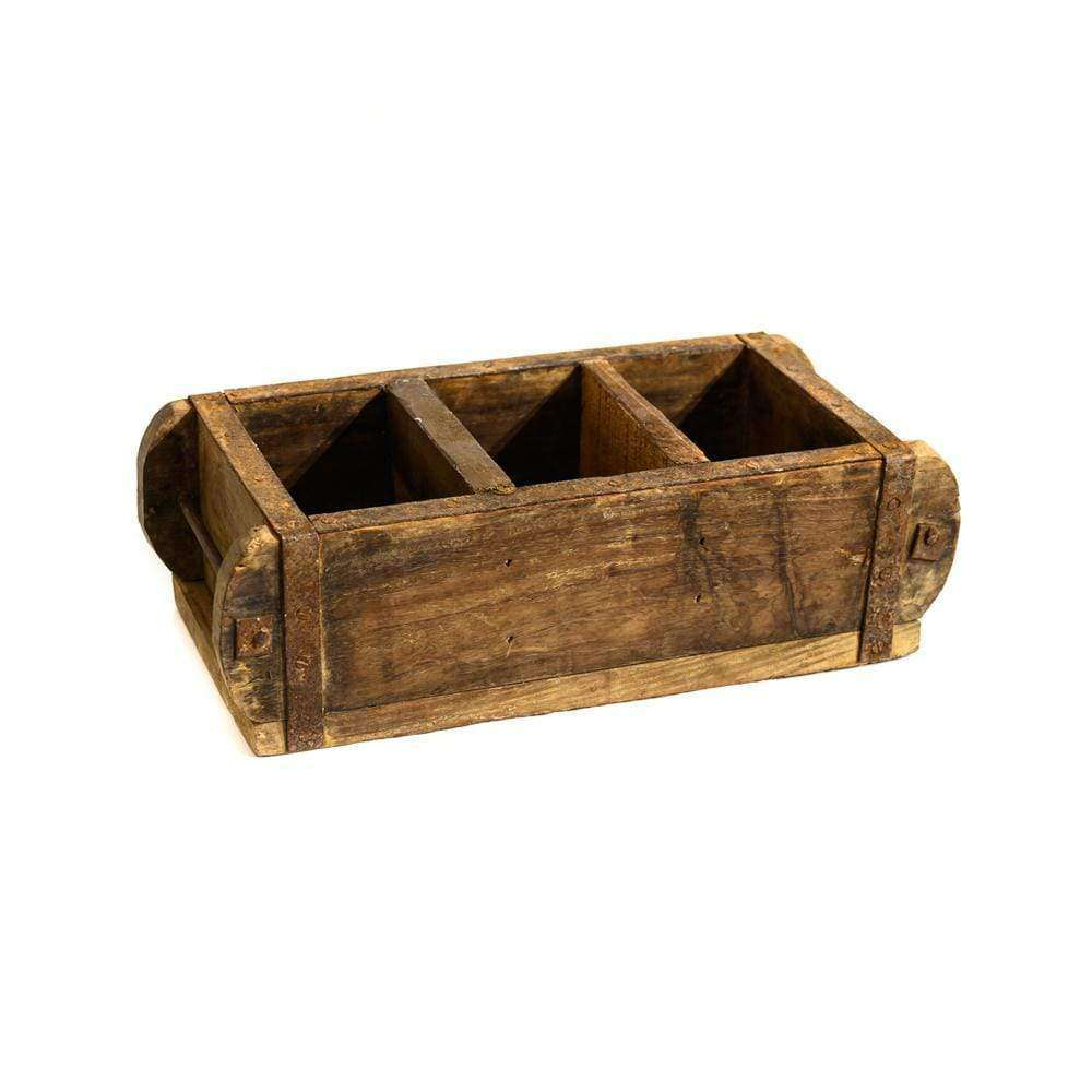 Wooden Vintage Storage Box | Triple - Zoco Home