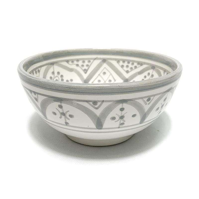 Ceramic Bowl | Grey & White 15cm - Zoco Home