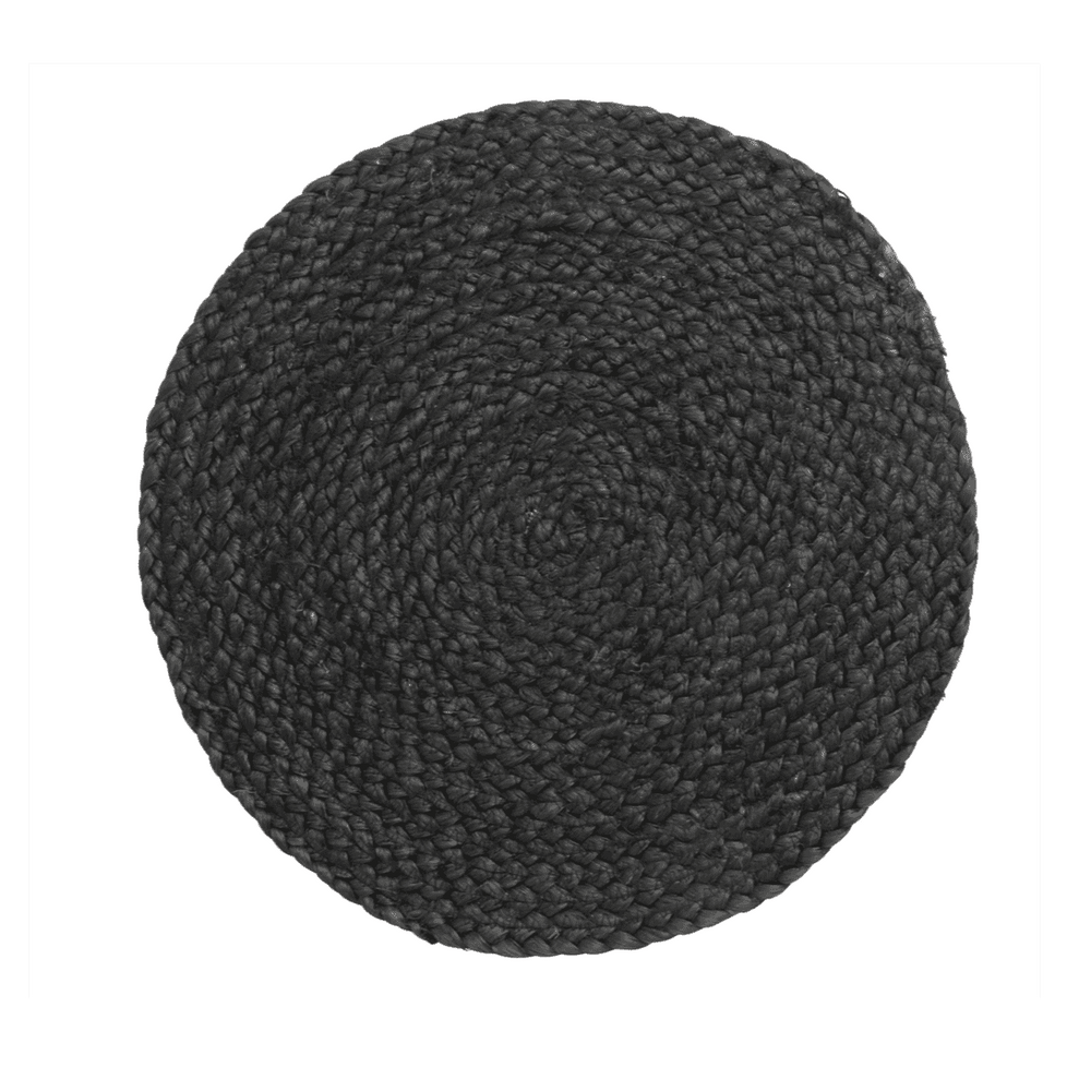 Jute Table Mat | Black 35cm