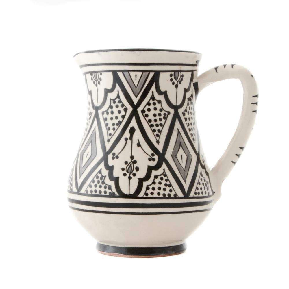 Handmade Ceramic Jug | Black & White - Zoco Home