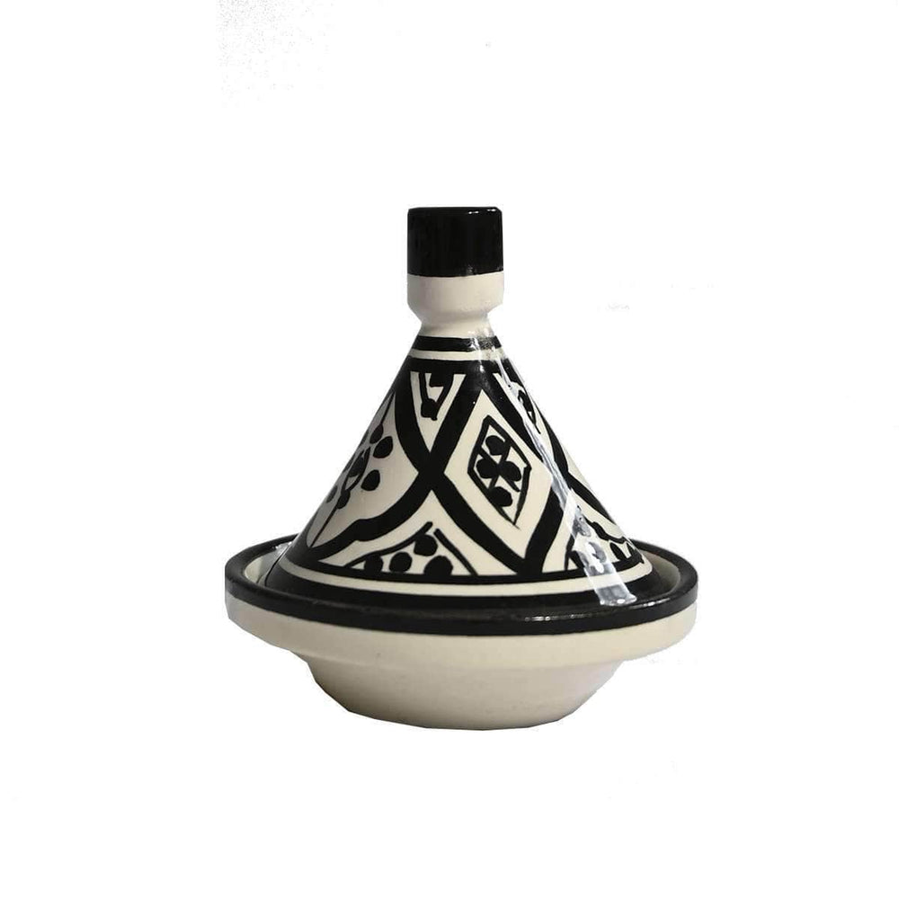 Mini Tagine | Black & White 9cm