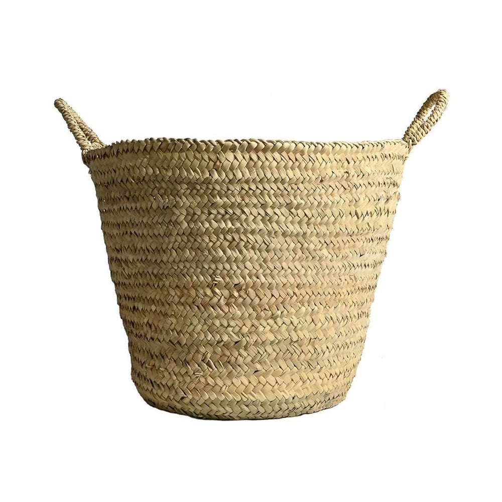 Palm leave basket with handles 50cm