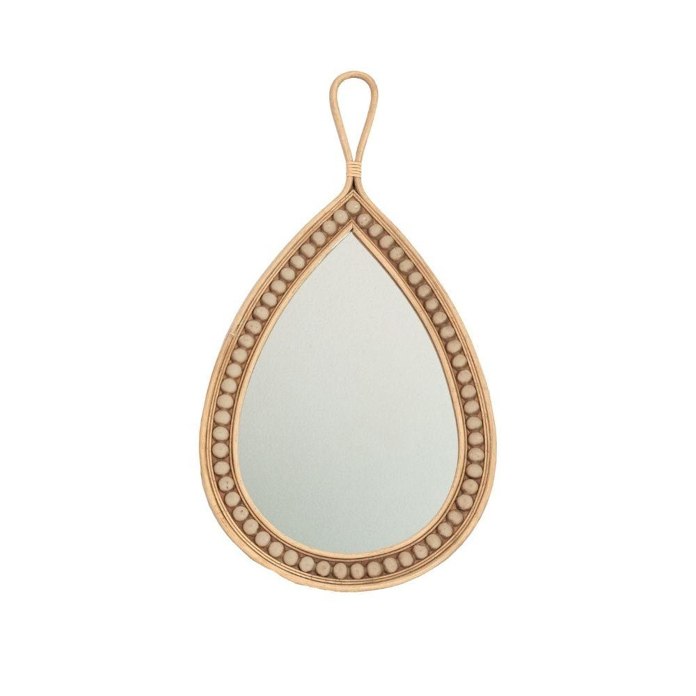 Zoco Home Home accessories Rattan Teardrop Mirror | 77cm