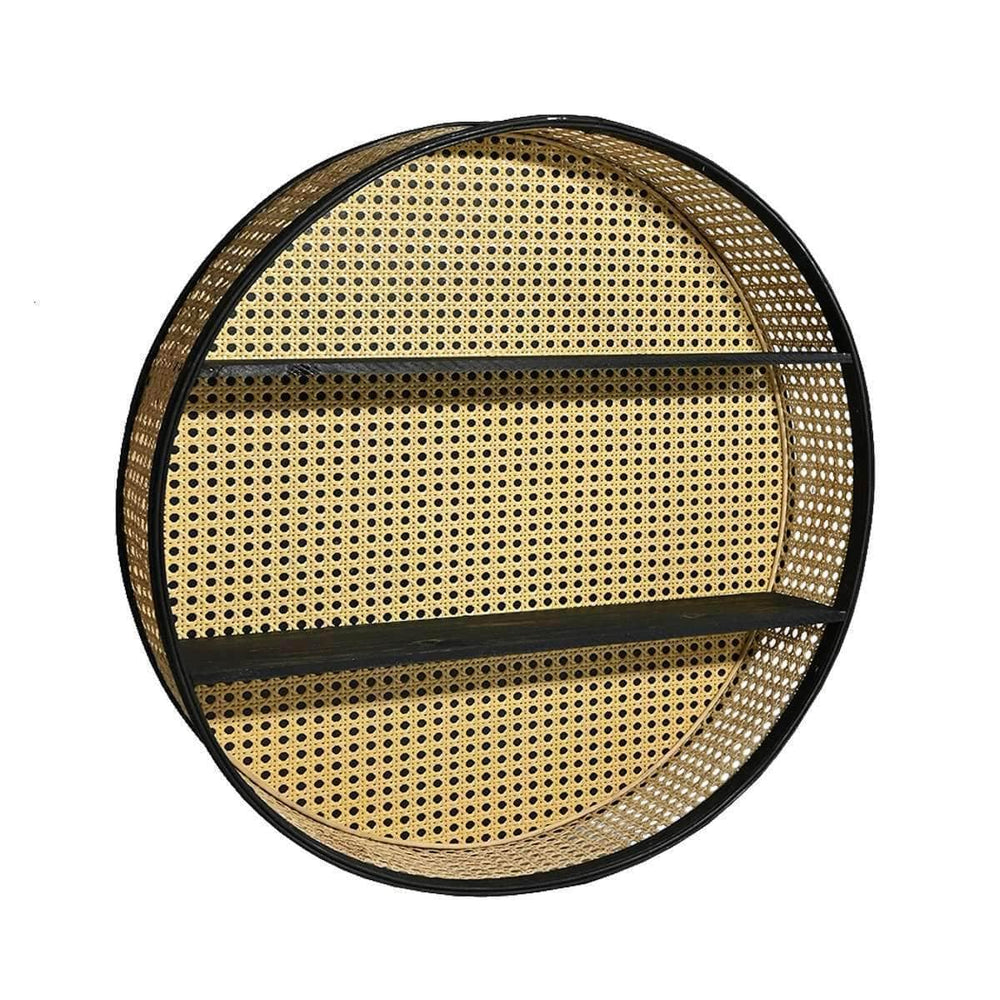 Zoco Home Home accessories Round rattan wall shelf | 60cm