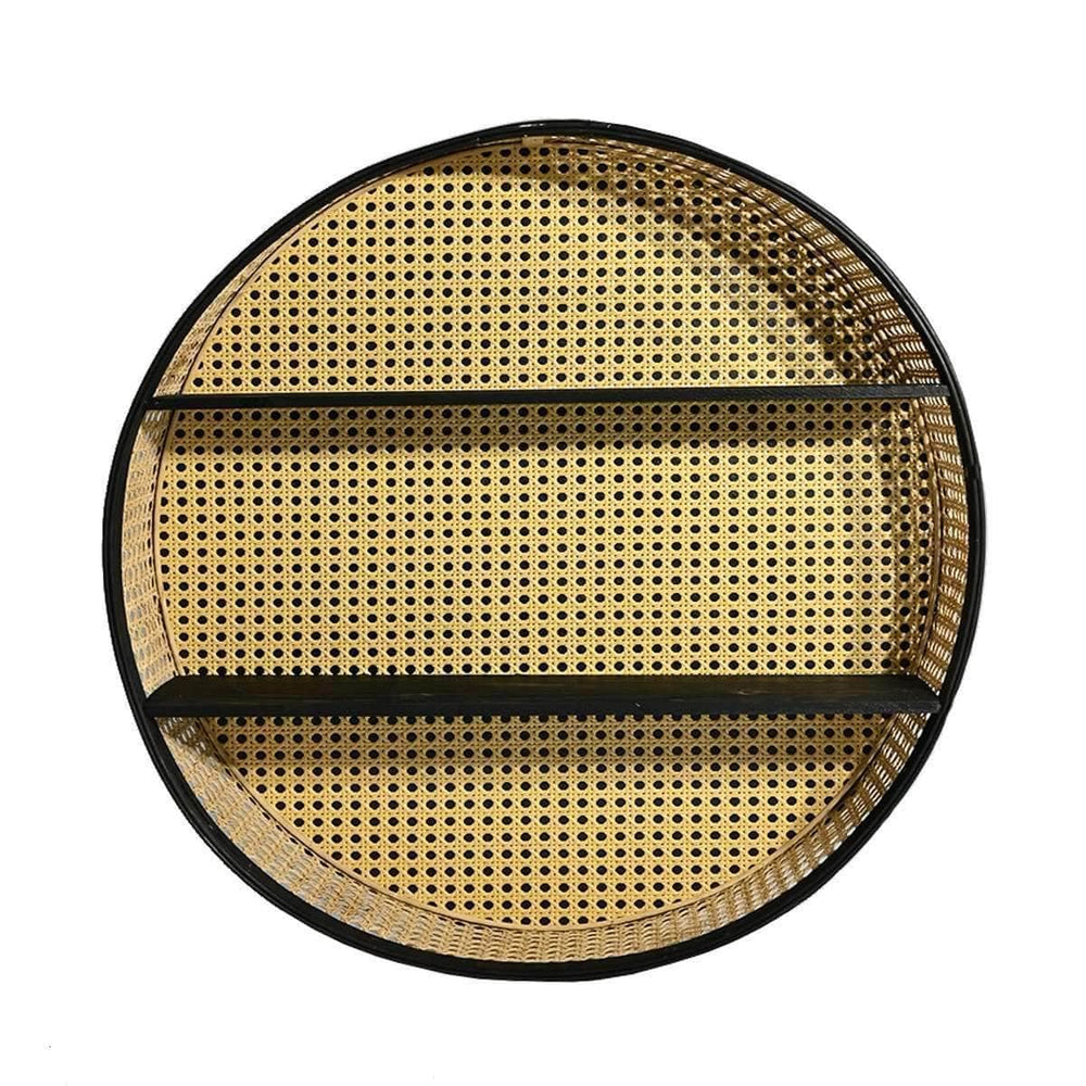 Round rattan wall shelf | 60cm