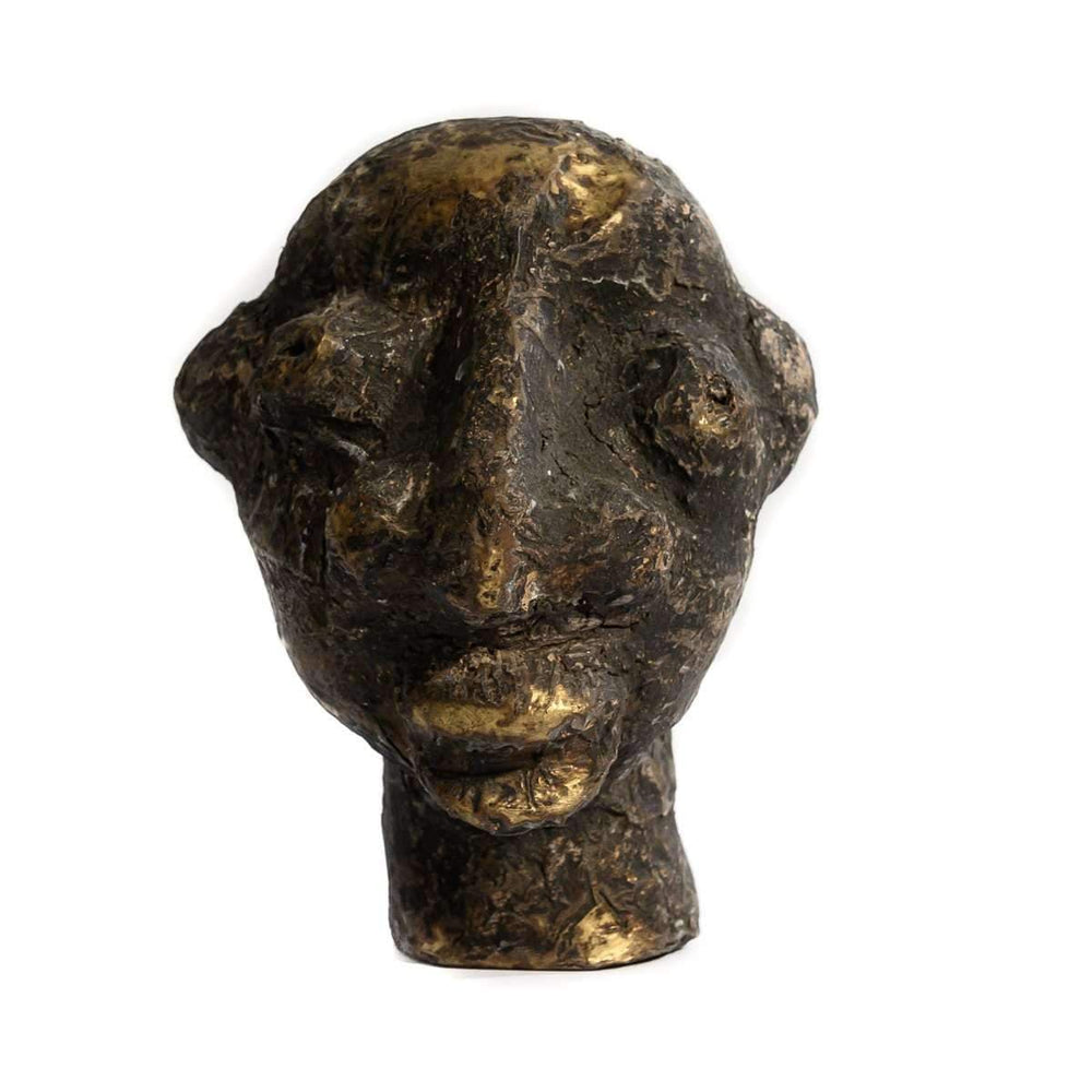 Vintage African head sculpture