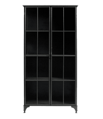 Zoco Home Iron Cabinet | Black 92x40x185cm