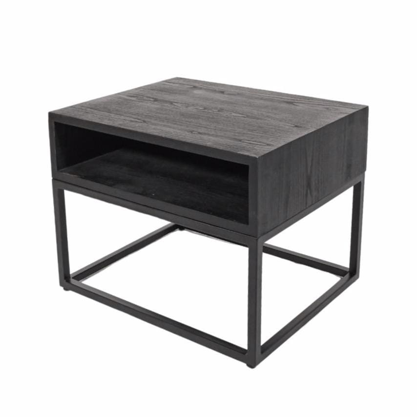 Night Table with Iron legs | Black