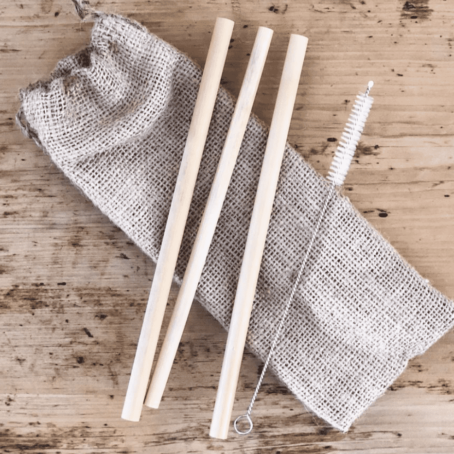 Zoco Home Kitchen / Dining Bamboo straw - set of 3