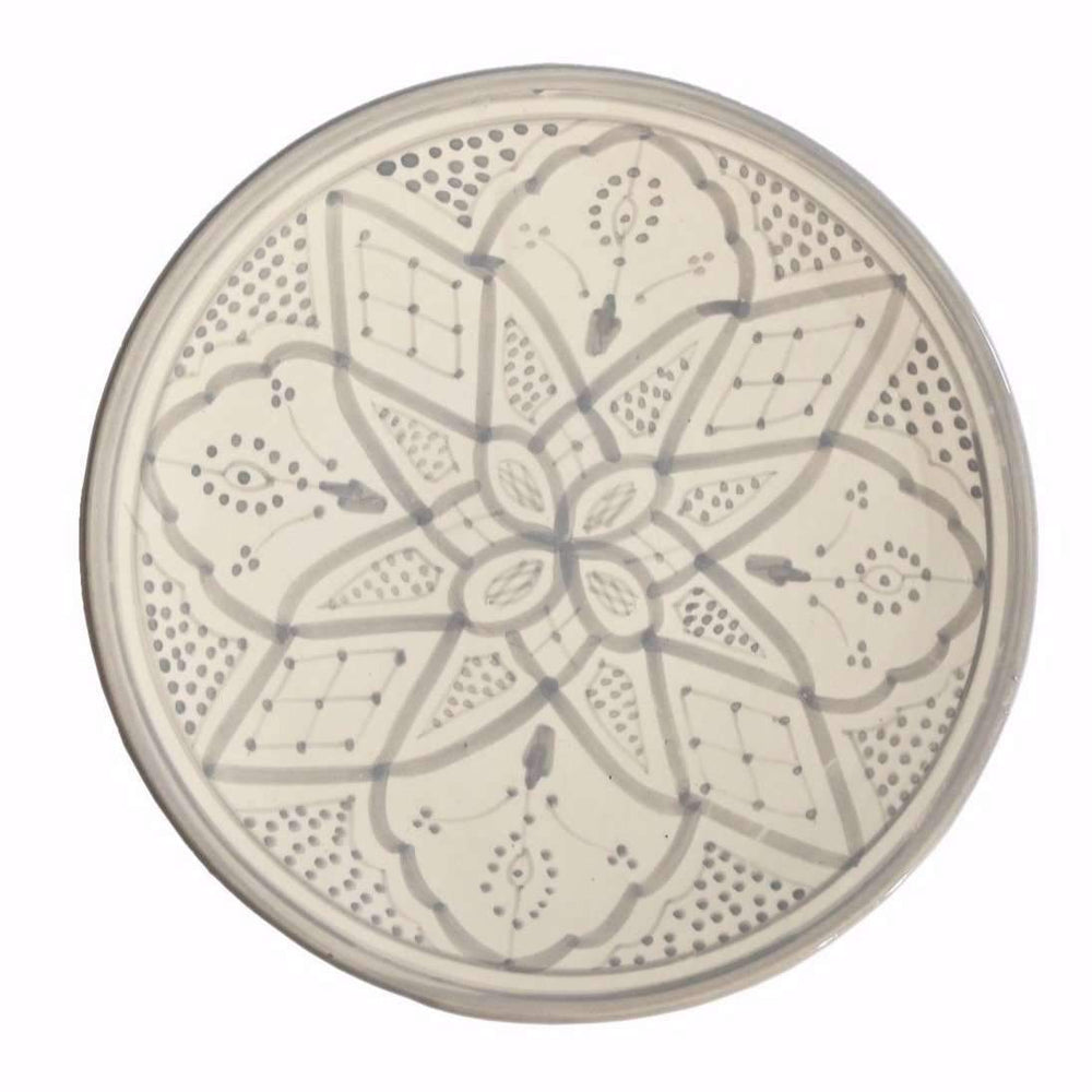 Zoco Home Kitchenware Ceramic plate flat | Grey 25cm