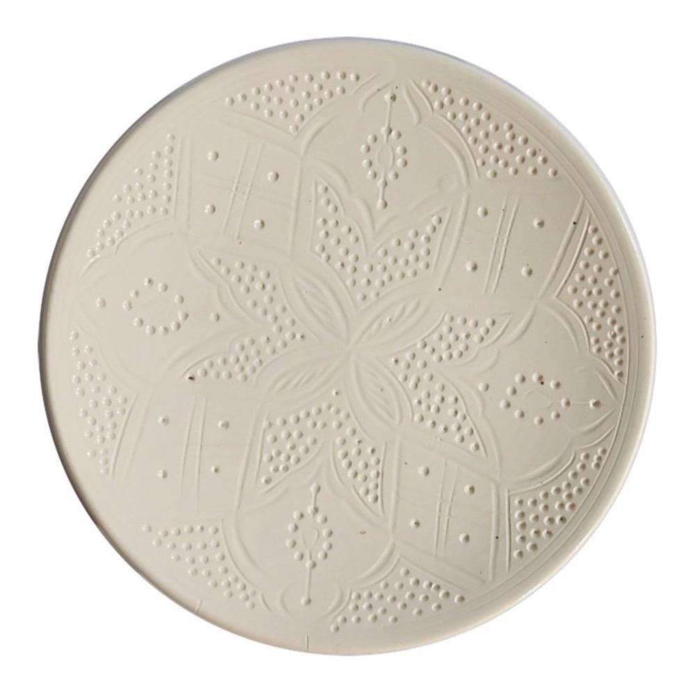 Zoco Home Kitchenware Ceramic plate flat | white 25cm
