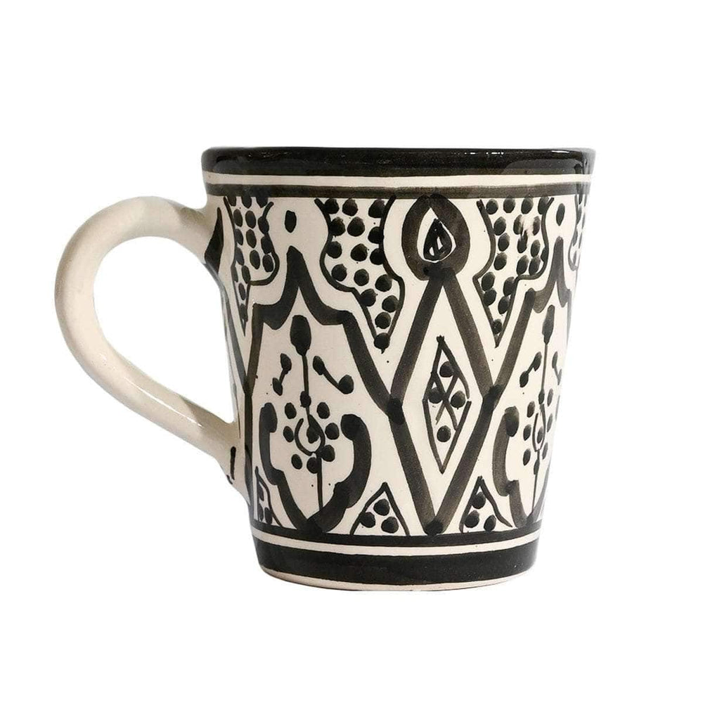 Coffee cup with handle | Black & White 10cm