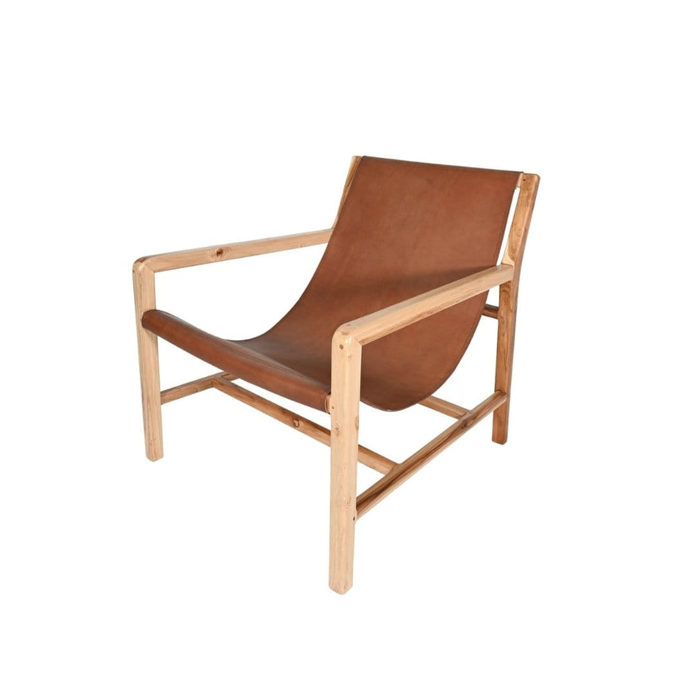 Zoco Home Furniture Leather Lounge Chair | Brown 82x69x82cm