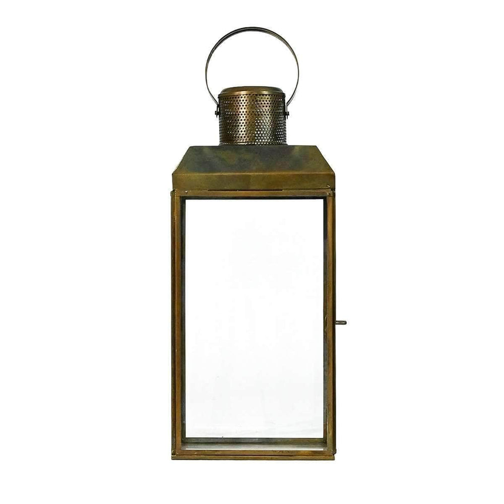 Brass finished Iron Lantern | 30.5cm