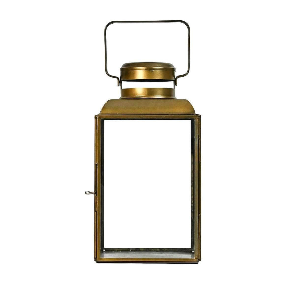 Zoco Home Lighting Metal Lantern | Brass 26cm